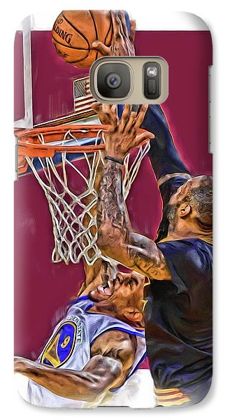 Lebron James Cleveland Cavaliers Oil Art Galaxy S7 Case