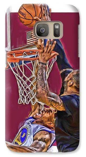 Lebron James Cleveland Cavaliers Oil Art Galaxy Case by Joe Hamilton