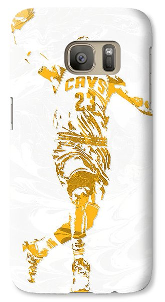 Lebron James Cleveland Cavaliers Pixel Art 12 Galaxy S7 Case