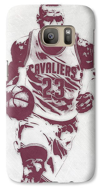 Lebron James Cleveland Cavaliers Pixel Art 4 Galaxy S7 Case