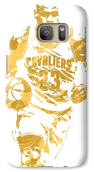 Lebron James Cleveland Cavaliers Pixel Art 7 Galaxy S7 Case