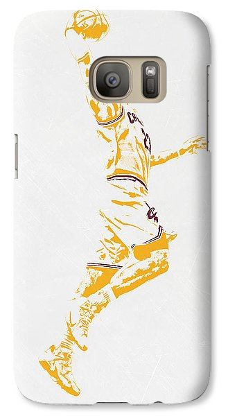 Lebron James Cleveland Cavaliers Pixel Art Galaxy S7 Case