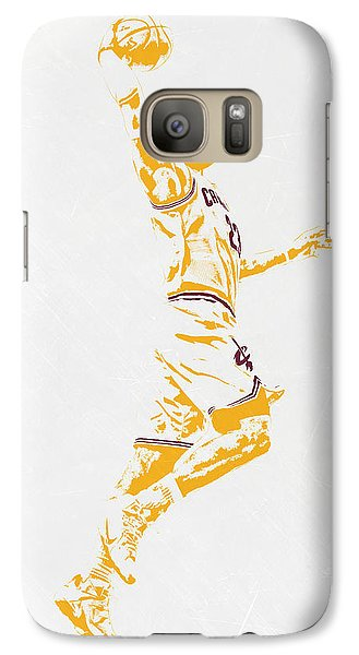 Lebron James Cleveland Cavaliers Pixel Art Galaxy Case by Joe Hamilton