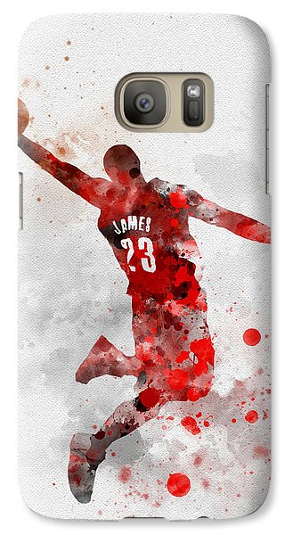 Lebron James Galaxy S7 Case by Rebecca Jenkins