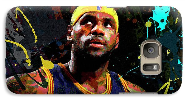 Galaxy Case featuring the painting Lebron by Richard Day