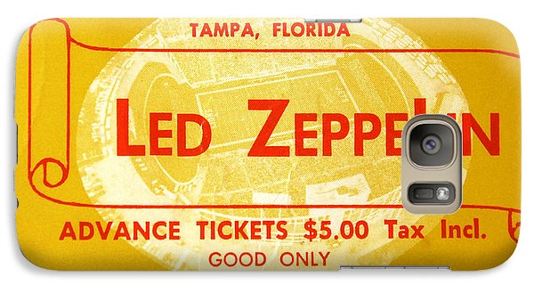 Led Zeppelin Ticket Galaxy S7 Case by David Lee Thompson