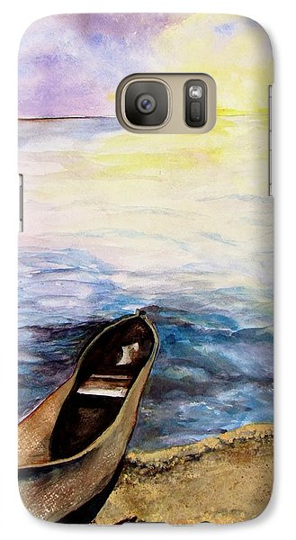 Galaxy Case featuring the painting Left Alone by Lil Taylor