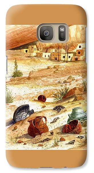 Galaxy Case featuring the painting Left Behind - Indian Pottery by Marilyn Smith