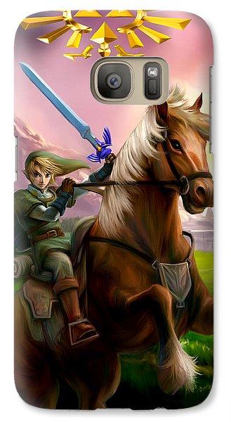 Legend Of Zelda- Link And Epona Galaxy S7 Case