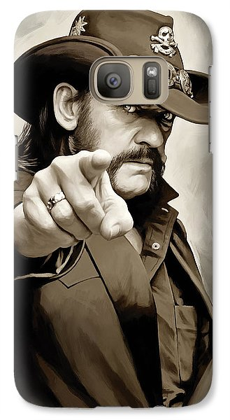 Galaxy Case featuring the painting Lemmy Kilmister Motorhead Artwork 1 by Sheraz A