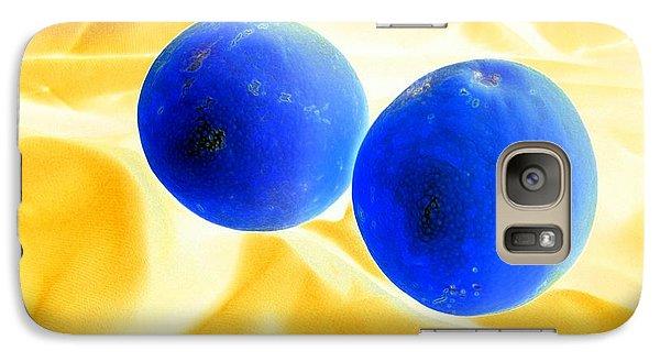 Lemon Blue Galaxy S7 Case by Florene Welebny