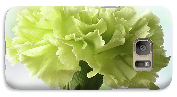 Galaxy Case featuring the photograph Lemon Carnation by Terence Davis