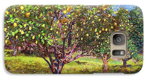 Lemon Galaxy S7 Case - Lemon Grove Of Citrus Fruit Trees by Jane Small