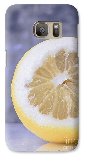Lemon Galaxy S7 Case - Lemon Half by Edward Fielding