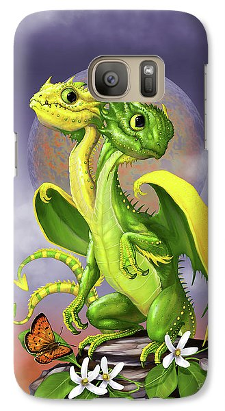 Galaxy Case featuring the digital art Lemon Lime Dragon by Stanley Morrison
