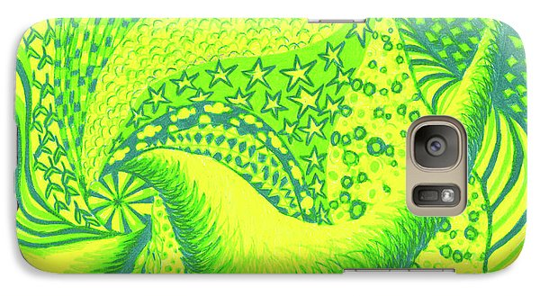 Galaxy Case featuring the drawing Lemon Lime by Kim Sy Ok
