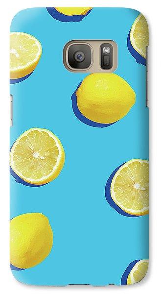 Lemon Galaxy S7 Case - Lemon Pattern by Rafael Farias