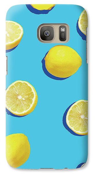 Lemon Pattern Galaxy Case by Rafael Farias