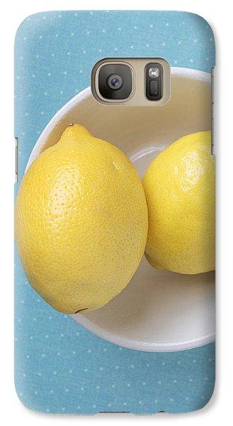 Lemon Galaxy S7 Case - Lemon Pop by Edward Fielding