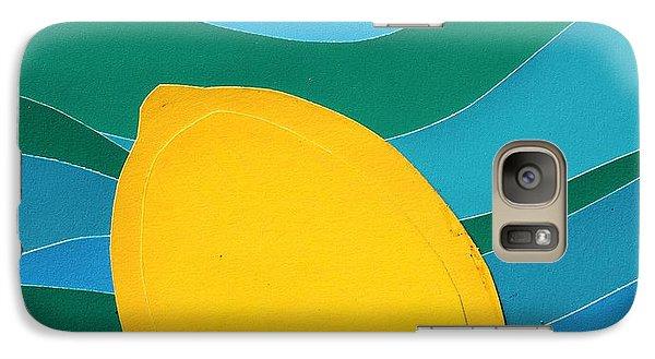 Galaxy Case featuring the mixed media Lemon Slice by Vonda Lawson-Rosa