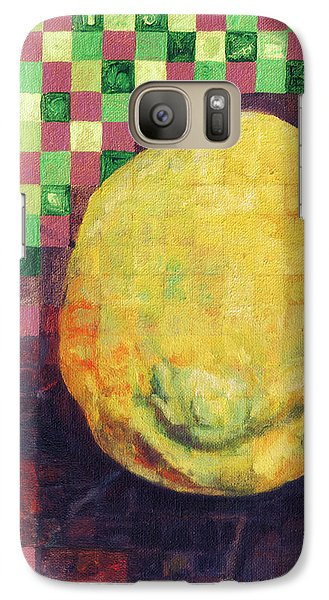 Galaxy Case featuring the painting Lemon Squares by Shawna Rowe