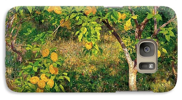 Galaxy Case featuring the painting Lemon Tree by Henry Scott Tuke
