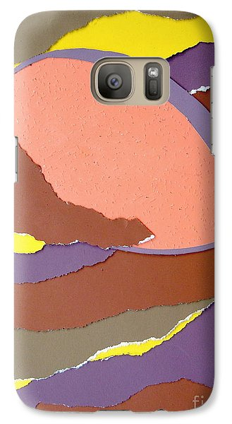 Galaxy Case featuring the mixed media Lemon Twist by Vonda Lawson-Rosa