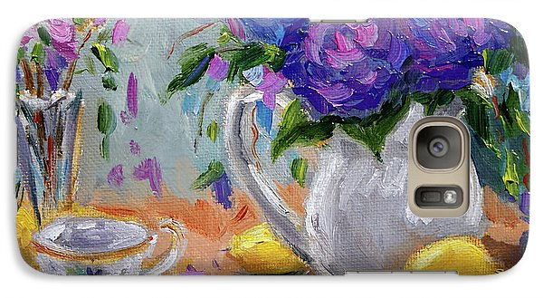Galaxy Case featuring the painting Lemons And Purple  by Jennifer Beaudet