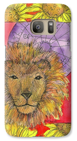 Galaxy Case featuring the painting Leo by Cathie Richardson