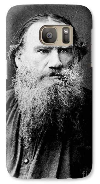 Galaxy Case featuring the photograph Leo Tolstoy by Pg Reproductions