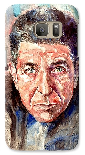 Rolling Stone Magazine Galaxy S7 Case - Leonard Cohen Painting by Suzann's Art