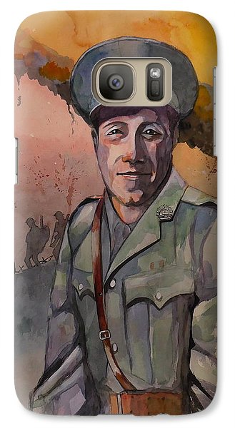 Galaxy Case featuring the painting Leonard Keysor Vc by Ray Agius