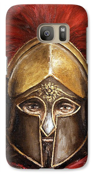 Galaxy Case featuring the painting Leonidas by Arturas Slapsys