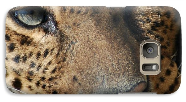 Galaxy Case featuring the photograph Leopard Face by Richard Bryce and Family