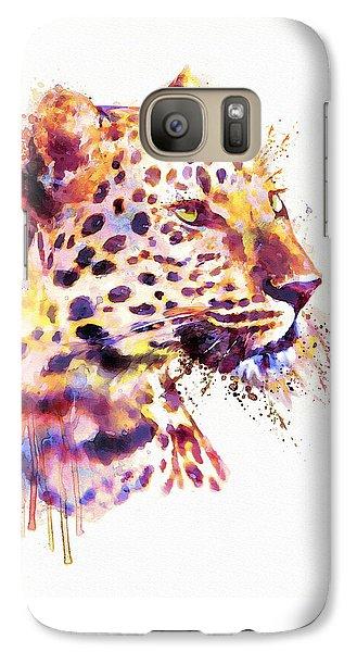 Leopard Head Galaxy S7 Case by Marian Voicu