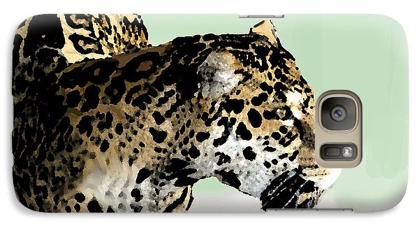Galaxy Case featuring the digital art Leopard by Walter Chamberlain