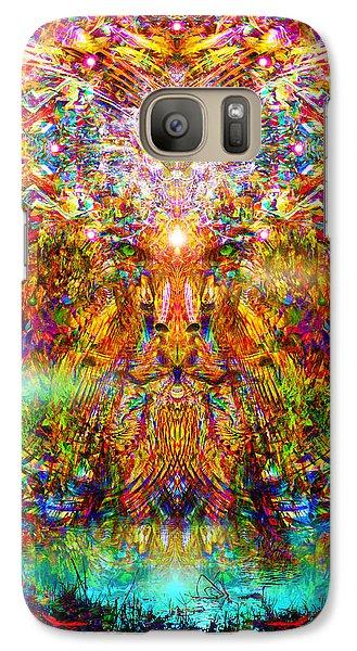 Galaxy Case featuring the digital art Leototem by Jalai Lama