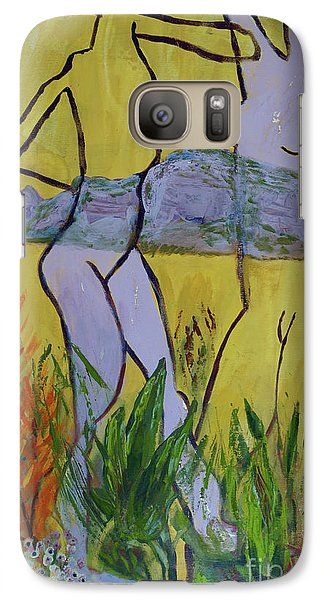Galaxy Case featuring the painting Les Nymphs D'aureille by Paul McKey