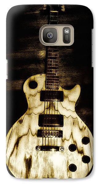 Music Galaxy S7 Case - Les Paul Guitar by Bill Cannon