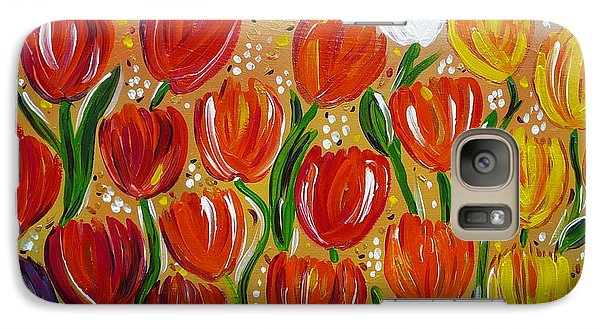 Galaxy Case featuring the painting Les Tulipes - The Tulips by Gioia Albano
