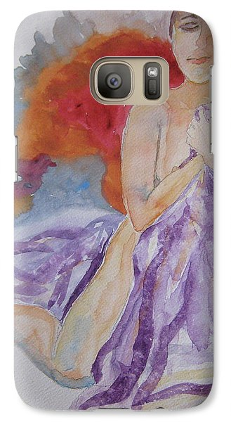 Galaxy Case featuring the painting Let It Burn by Beverley Harper Tinsley