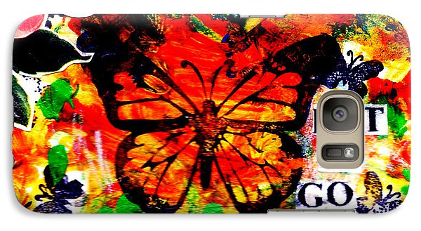 Galaxy Case featuring the mixed media Let It Go by Genevieve Esson