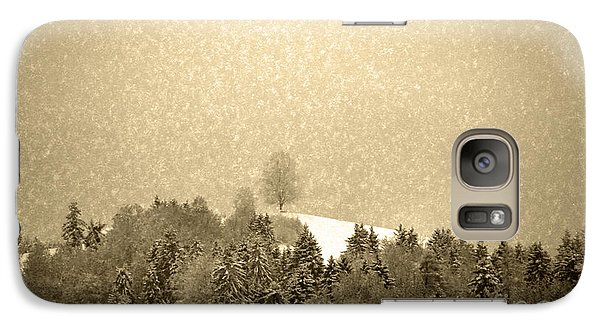 Galaxy Case featuring the photograph Let It Snow - Winter In Switzerland by Susanne Van Hulst