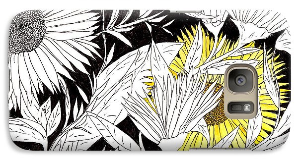Galaxy Case featuring the drawing Let Your Light Shine by Lou Belcher
