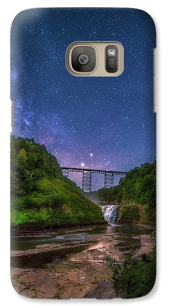 Galaxy Case featuring the photograph Letchworth At Night by Mark Papke