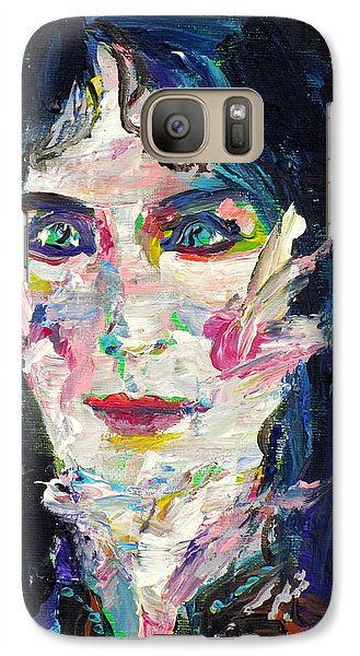 Galaxy Case featuring the painting Let's Feel Alive by Fabrizio Cassetta