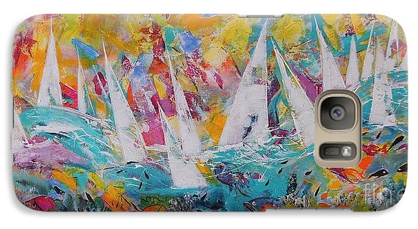 Galaxy Case featuring the painting Lets Go Sailing by Lyn Olsen