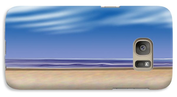 Galaxy Case featuring the digital art Let's Go To The Beach by Saad Hasnain