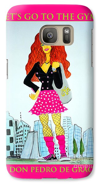 Galaxy Case featuring the painting Let's Go To The Gym by Don Pedro De Gracia