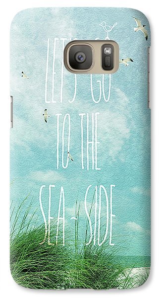 Galaxy Case featuring the photograph Let's Go To The Sea-side by Jan Amiss Photography